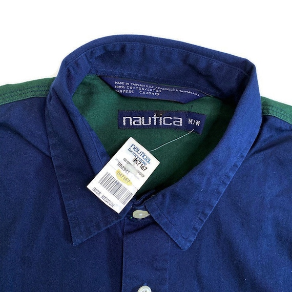NWT Vintage Nautica Golf Button Down Shirt - image 5