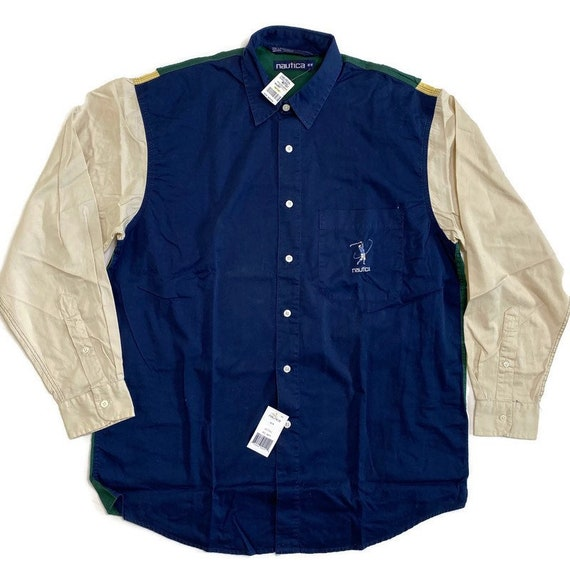 NWT Vintage Nautica Golf Button Down Shirt - image 1
