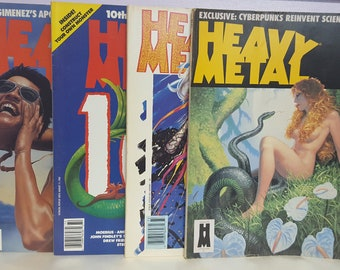 Heavy Metal Adult Full Color Comic Book  Collection 1987 Set of 4, 1987 Spring, Summer, Fall & Winter Issues