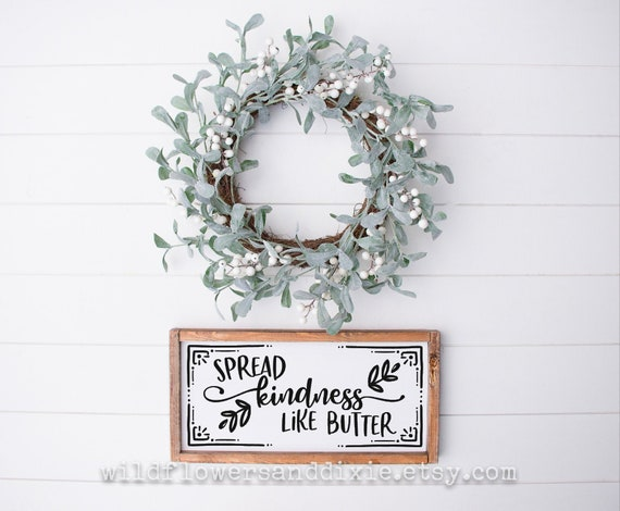 Measure Mix Sprinkle Handmade Wood Sign Be Kind Kitchen Decor Love to Bake 6x12 Baking Company Spread Kindness Like Butter