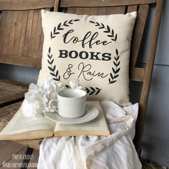 Rain Pillow Cover Reading Nook Bookworm
