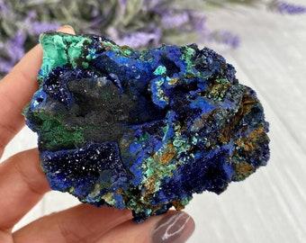 Azurite Malachite Azurite Malachite Cabochon Azurite Malachite Gemstone Loose Azurite Malachite Size 40 x 7 mm Azurite Round ET 5315