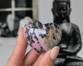 Rhodonite Puffy Heart (45 mm)