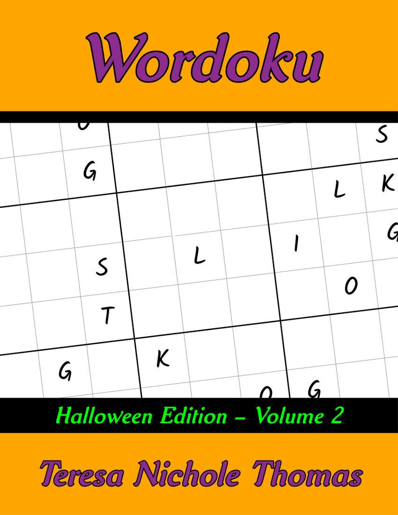 photo about Halloween Printable Puzzles titled Wordoku Puzzle Guide - Halloween Version Quantity 2 Printable Prompt Down load 40 Enjoyment and Intense Wordoku Puzzles