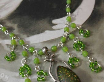 Green Sparkle Necklace