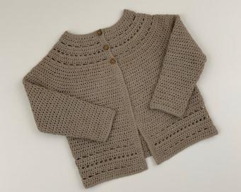 4T Organic Cotton Caroline Sweater in Oatmeal