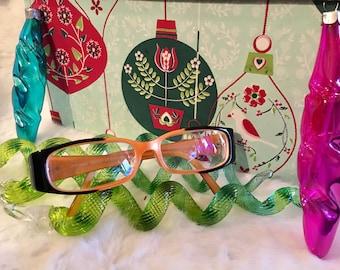 29ace19fdc40 Orange and Black Rectangular Eyeglasses MINT!!!