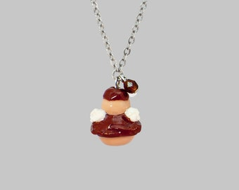 Chocolate religious necklace