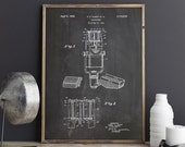 Ribbon Microphone Poster, Microphone Patent, Singing, Vintage Microphone, Musician Gift, Blueprint, Patent, Home Wall Art, INSTANT DOWNLOAD
