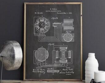 Nikola tesla patent prints light bulb digital download | etsy.