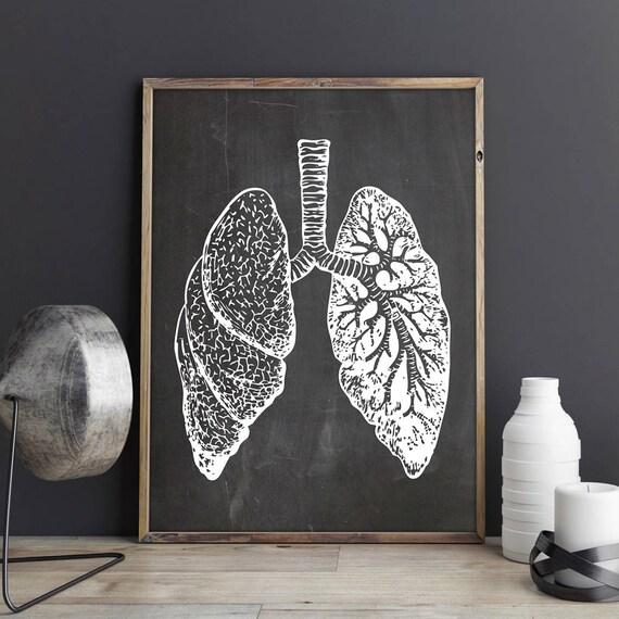 Lunge Druck anatomische Dekor Anatomie Dekor Geschenk für