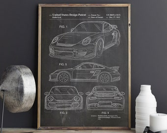 Sports Car Patent, Porsche Poster, Porsche Print, Porsche 911 Print, Porsche 911 Poster,Porsche 911 Patent,Teen Room Decor, INSTANT DOWNLOAD