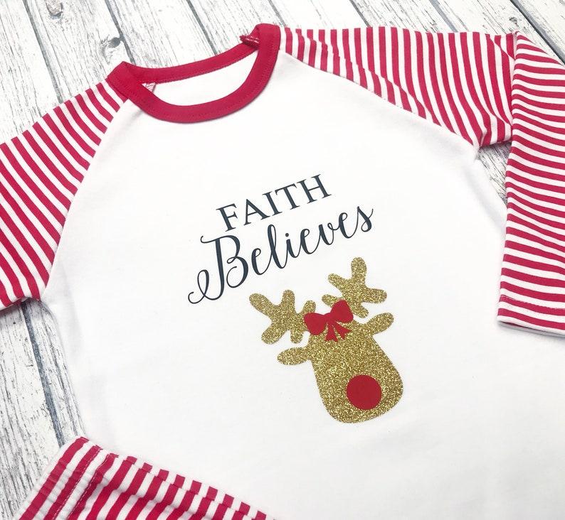 Childrens christmas pjs girls reindeer pyjamas boys santa  190a4b903