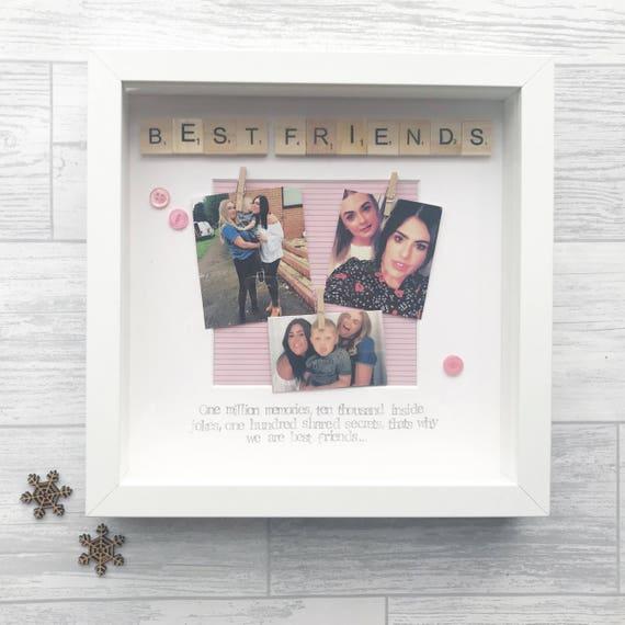 BEST FRIEND FRAME personalised scrabble frame handmade photo | Etsy