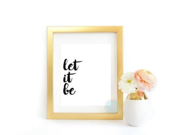 Let it be lyrics etsy printable art let it be modern typography let it be wall art the beatles lyrics print music posters beatles lyrics beatles song lyrics stopboris Images