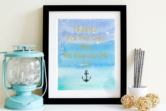 Nautical Scripture Wall Art Printable Prayed For This