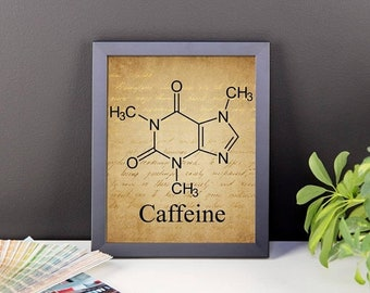Charming 13% OFF SALE  CUSTOM Framed Poster Caffeine Poster Coffee Poster Unique  Wall Art Coffee