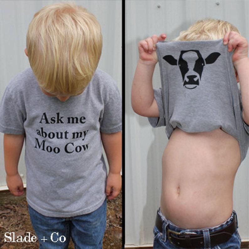 Ask me about my moo cow shirt  Animal Shirt  Funny Shirts  image 0