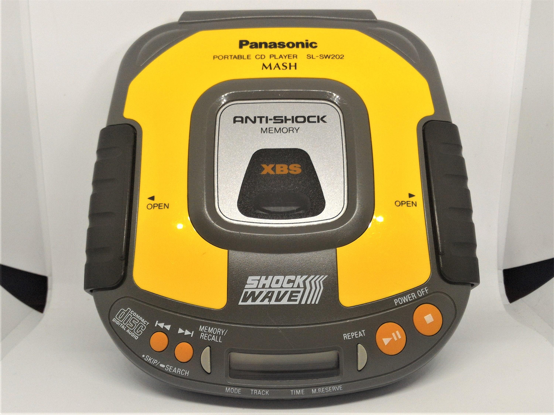 Panasonic SL-SW202 Yellow Portable CD Player Shockwave
