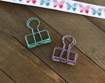 Spring Wire Binder Clip Set