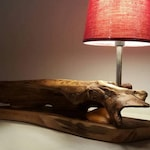 Lampe en bois flotté,décoration bois flotté,lampe art déco,sculpture lampe bois flotté,art en bois flotté,moderne,bois design,lampe bois,art