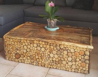 Table de bois flotté,table d appoint bois flotté basse,coté table,bois flotté art,table rustique,plage décor meuble,décor meuble bois flotté