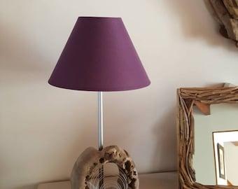 Lampe en bois flotté,lampe art déco,éclairage bois flotté,décor bois flotté,lampe a poser,moderne,métallique,lampe bois design,lampe bois