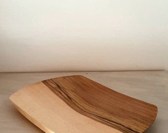 Walnut plate, table art,art of filming,woodturning,deco inner wood, square flat plate, table ornament,kitchen,turned wood