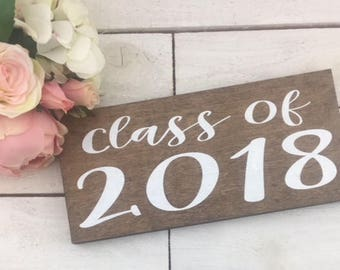 Class Of 2018 Wood Etsy