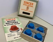 Vintage Singer Zigzagger Original Blue Cam Set 3 will work with class 15, 66, 301, 404, 221, 222 and 201 Machines