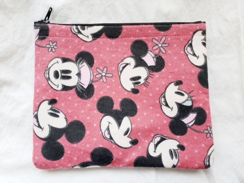 9519ba790824 Mickey Mouse and Minnie Mouse Vintage Pink Disney Makeup Bags