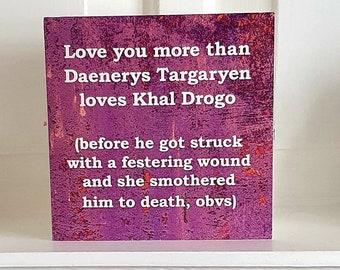 Game of Thrones DROGO AND DAENERYS Targaryen Birthday Valentines Anniversary Card