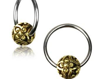 Boule meditation hoops septum piercing earring