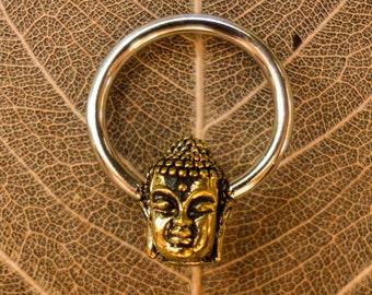 buddha hoops septum piercing earring