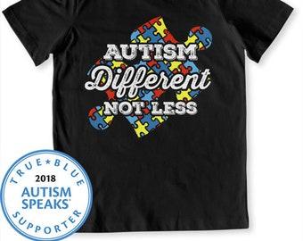 Autisme autiste chemise parle T Shirt Puzzle pièce autisme jour enfants  autistes ayant de l autisme pas moins Body garçons filles différentes Tee  FAT746 c23820144da