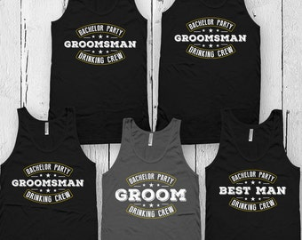 Groom And Groomsmen Shirts Bachelor Party Tanks Groom's Party Matching T Shirts Wedding Party Gifts Unisex Tank Tops FAT-3(68-69-70)