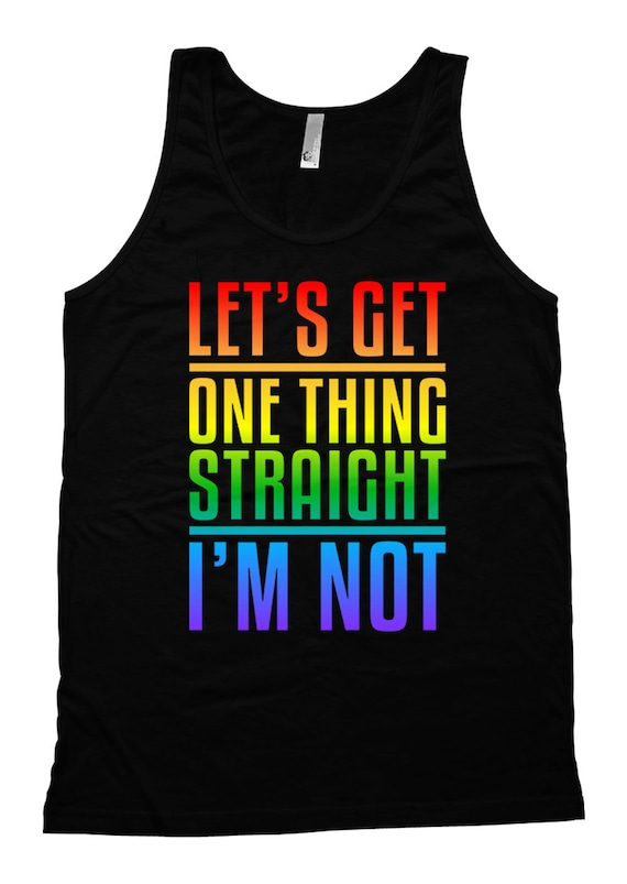I/'m Not Womens Vest Tank Top Let/'s Get One Thing Straight
