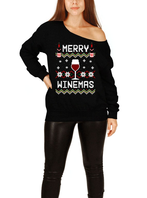 Wine Christmas Sweater.Ugly Christmas Sweater Wine Christmas Sweater Wine Lover Gifts For Women Holiday Tops Xmas Outfits Merry Winemas Slouchy Sweatshirt Fat 603