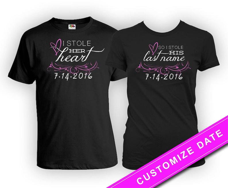 3bbd554b14 Custom Couple Shirts Wedding T Shirt His And Her Shirts | Etsy