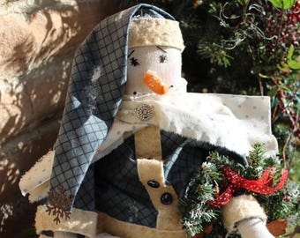 Snowgirl With Wreath