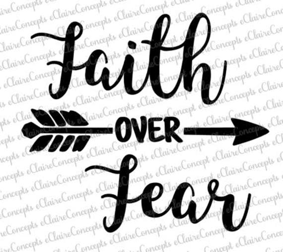 faith over fear digital design svg pdf gif etsy Churc Hats image