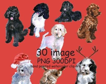 Watercolor clipart I love my Labradoodle Dog Clipart Puppy Clipart cute dogs clip art puppy clipart