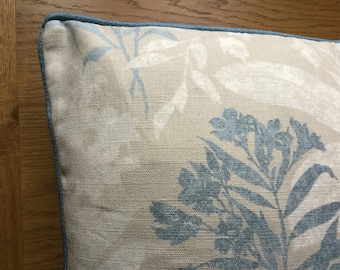"""Cushion Cover 16/"""" x 16/"""" Laura Ashley TENBY Fabric Seaspray"""