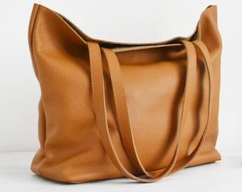 e0f3ee225a LARGE leather TOTE bag