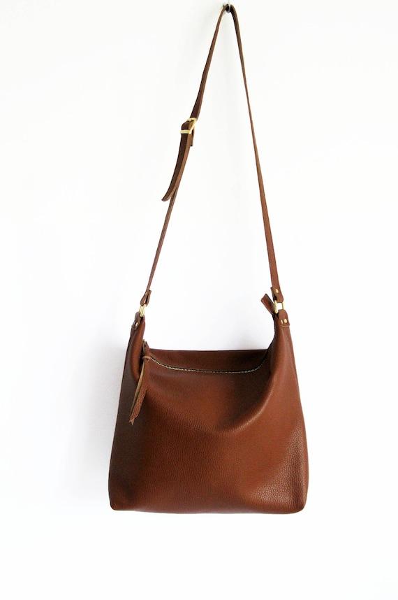 c7e7c4bc92 HOBO BAG BROWN Women Leather Handbag Brown Hobo Crossbody Bag