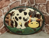 Pot trivet, pot stand, pot plant stand, trivet cast iron, trivet hot plate, cow trivet, Vintage pot holders, Vintage French, Hot Plate stand
