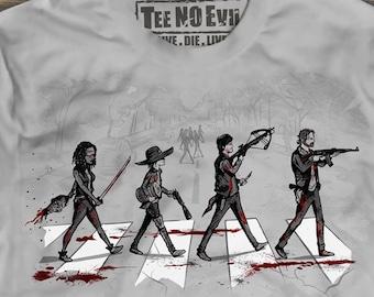 The Walking Dead Tee, Daryl Dixon shirt, Rick Grimes shirt, Michonne shirt, Abbey Road, Men