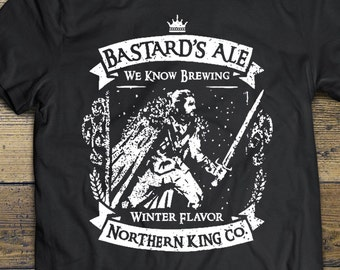 4e5c7295ab Jon Snow Shirt, Game of Thrones Tee Beer Shirt, Bastard GOT Shirt, Unisex Jon  Snow T-shirt Game of Thrones Gift