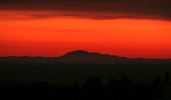 Western sunset,Mt.Diablo