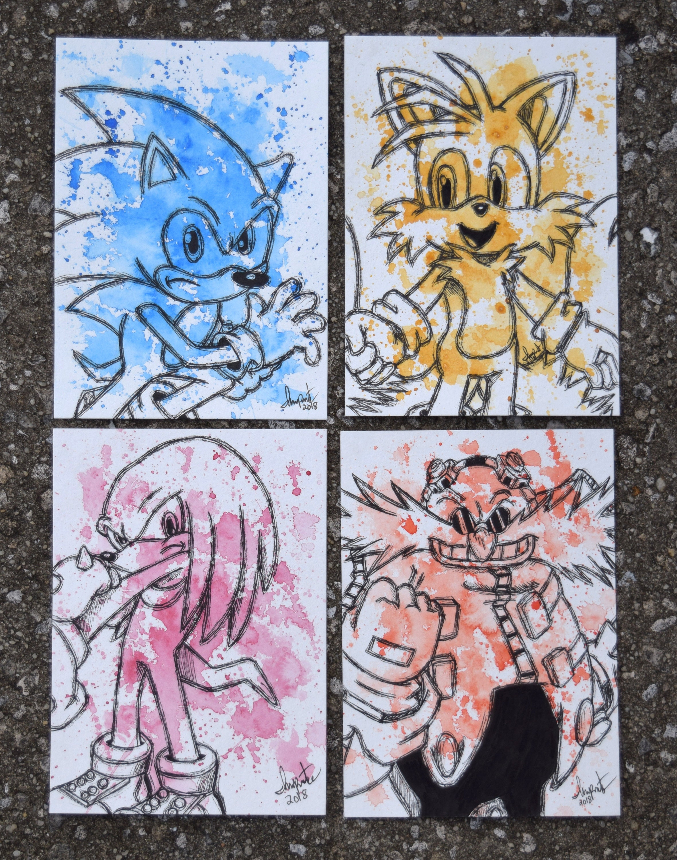 Sonic The Hedgehog Character Set Etsy